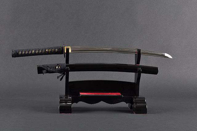 Samurai Wakizashi Sword, Practical, Hand Forged, 1060 Carbon Steel, Heat Tempered, Full Tang, Sharp, Dancing Crane Tsuba, Bendable Blade