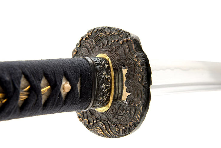 Fully Functional Japanese Samurai Sword, Fully Hand Forged, 1080 Carbon Steel, Heat Tempered, Full Tang, Sharp