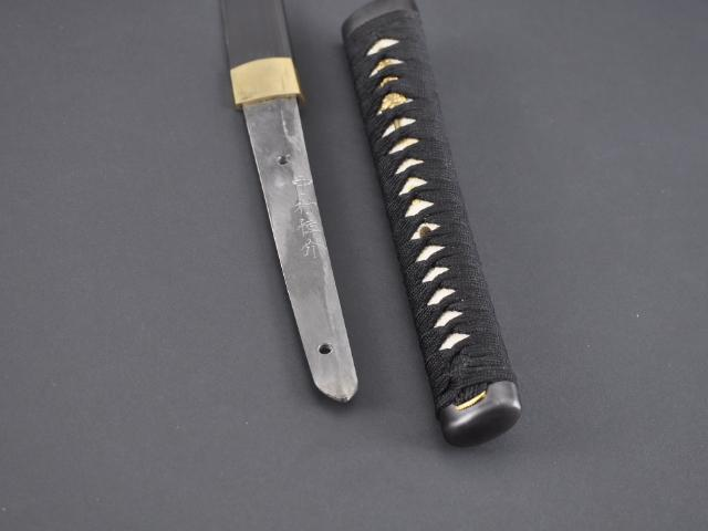 FULLY HAND FORGED CLAY TEMPER PRACTICAL BLACK FAN KATANA SWORD