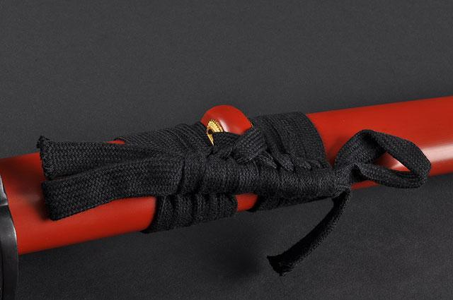 FULLY HAND FORGED RED FULL TANG IRON PINE JAPANESE SAMURAI KATANA SWORD - buyblade