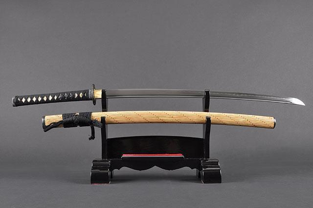 FULLY HAND FORGED YELLOW BAMBOO KATANA SWORD - buyblade