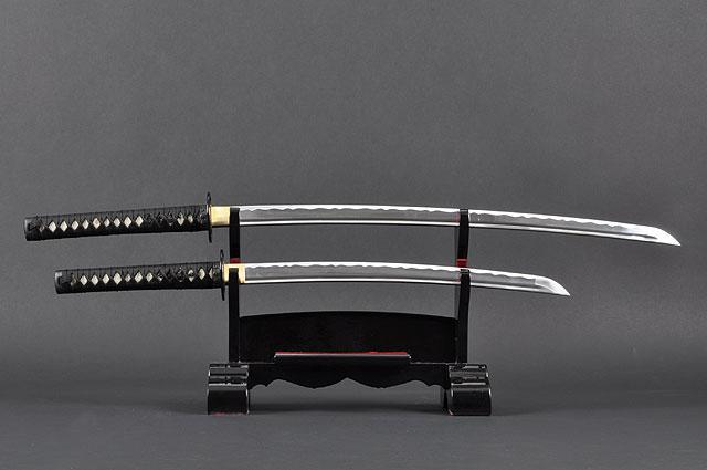 FULLY HANDMADE TOMOE CREST ALUMINIUM JAPANESE KATANA & WAKIZASHI TRAINING SWORDS - buyblade