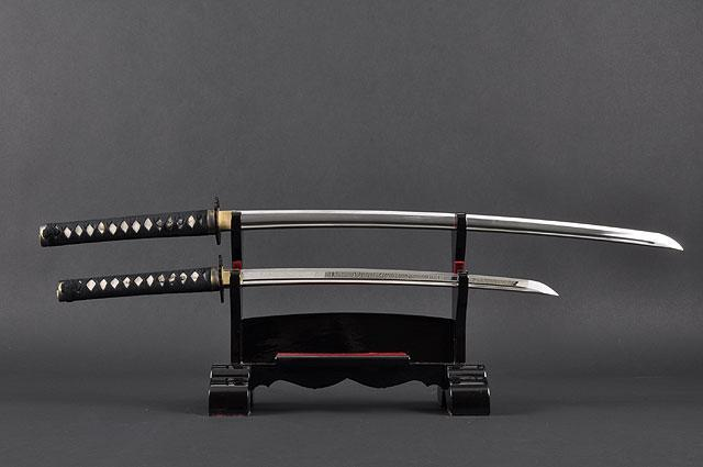 FULLY HANDMADE DANCING CRANE STAINLESS JAPANESE KATANA & WAKIZASHI TRAINING SWORDS - buyblade