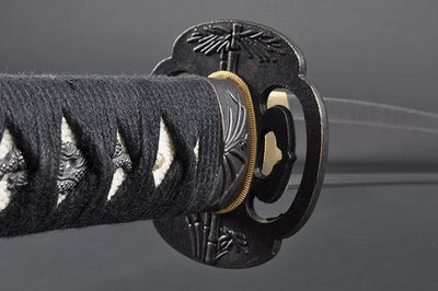 FULLY HANDMADE BAMBOO STAINLESS JAPANESE SAMURAI KATANA & WAKIZASHI TRAINING SWORDS - buyblade