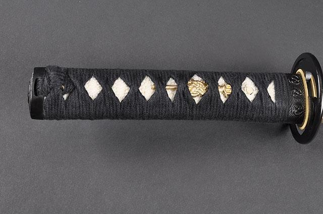FULLY HANDMADE QUALITY TOMOE CREST JAPANESE SAMURAI TANTO SWORD - buyblade