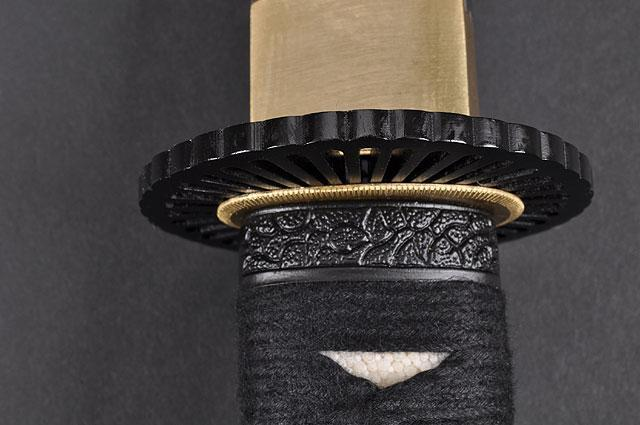 FULLY HANDMADE QUALITY EMPIRE WHEEL JAPANESE SAMURAI TANTO SWORD - buyblade