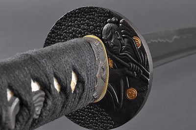 FULLY HAND FORGED BLACK FULL TANG PRACTICAL JAPANESE SAMURAI KATANA SWORD - buyblade