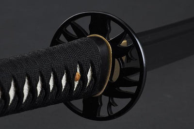FULLY HAND FORGED RED MOTHER OF PEARL BAMBOO SAMURAI KATANA SWORD - buyblade