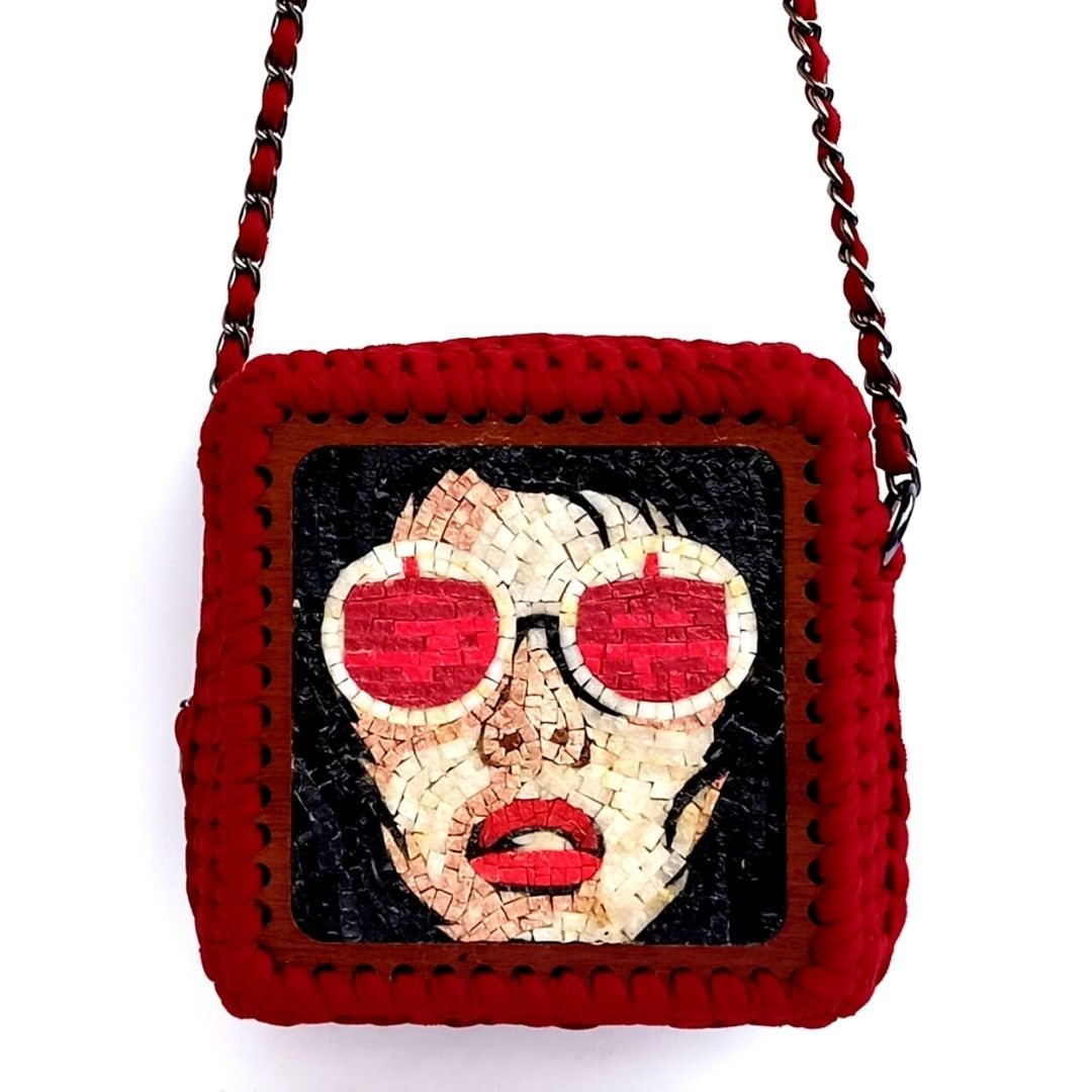 Red Sight Mosaic Bag