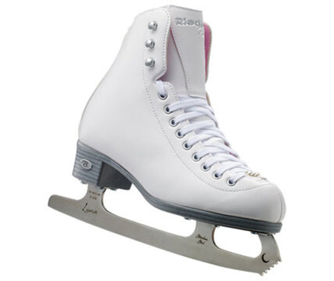 13Y Riedell 14 Pearl Figure Skates
