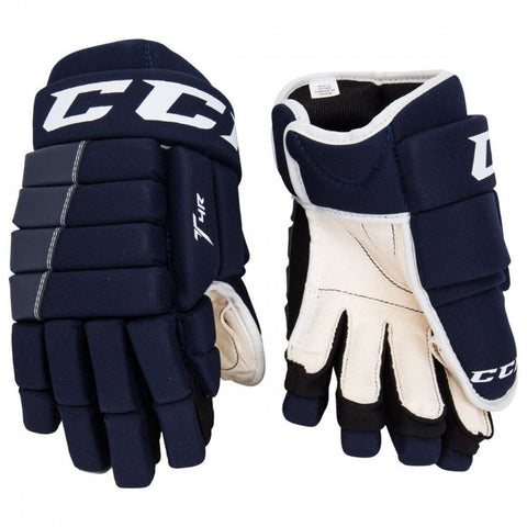 "15"" CCM Tacks 4-Roll Gloves Navy"