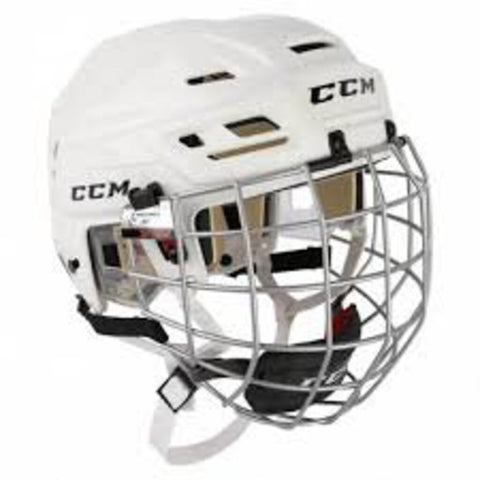 XS CCM Tacks 110 Helmet w/Cage - White