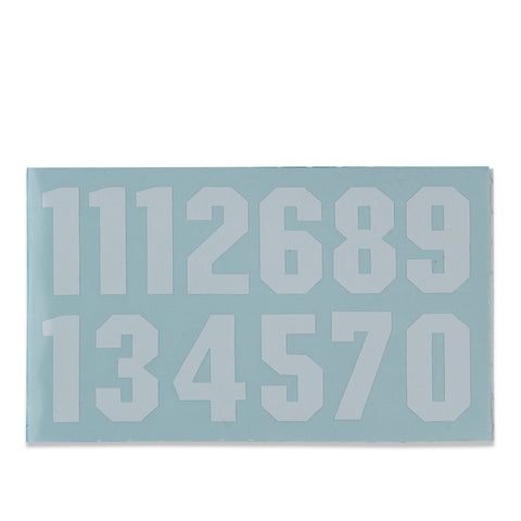 Proguard Helmet Number Decals White