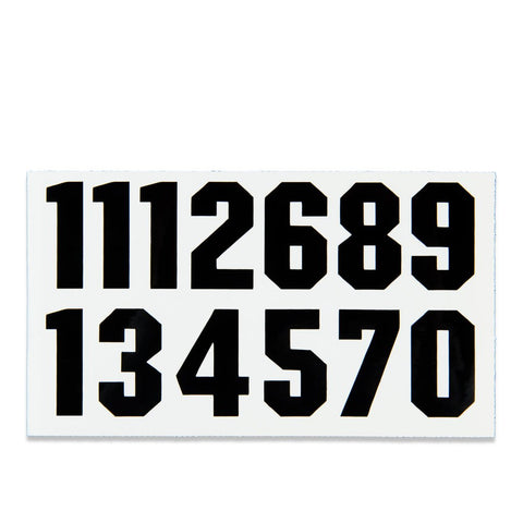 Proguard Helmet Number Decals Black