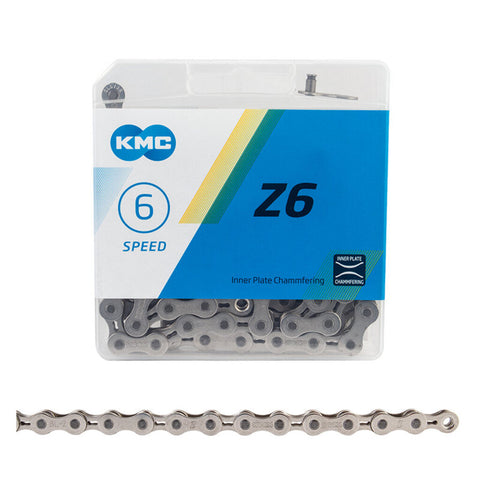 KMC Z6 6-Speed Bike Chain Silver