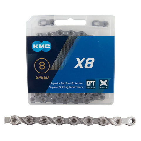 KMC X8 8-Speed Bike Chain Silver