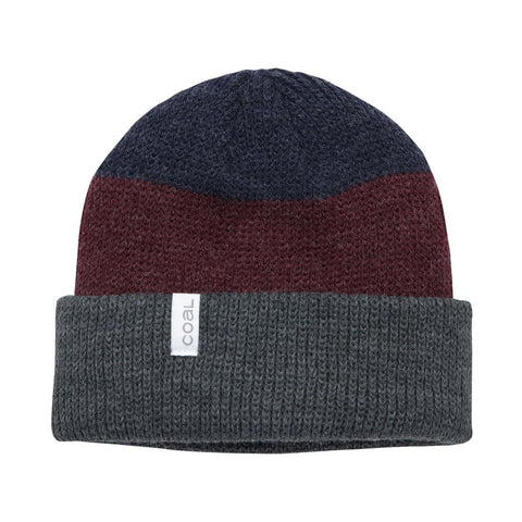 The Frena Thick Knit Cuff Beanie - Charcoal Stripe