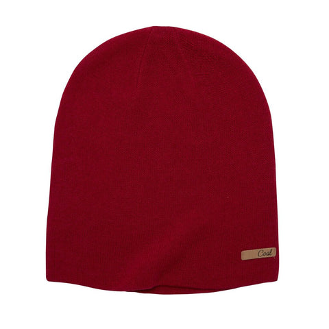 The Julietta Jersey Knit Snowboard Beanie - Ruby Red