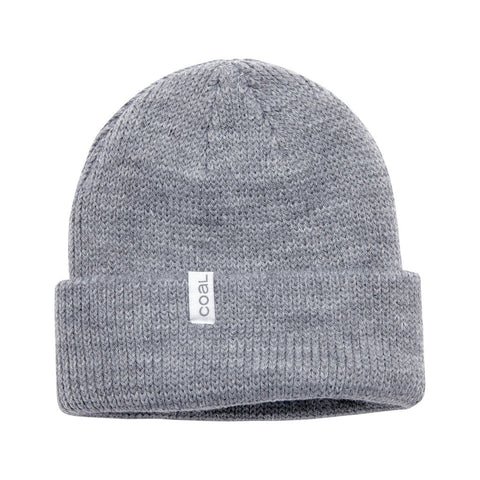 The Frena Thick Knit Cuff Beanie - Heather Grey