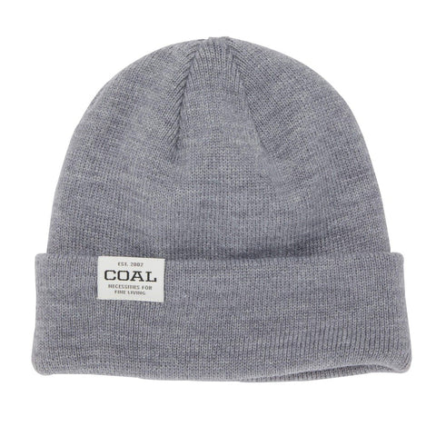 The Uniform Low Knit Cuff Beanie - Heather Grey