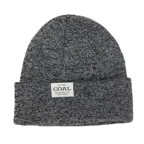 The Uniform Low Knit Cuff Beanie - Black Marl