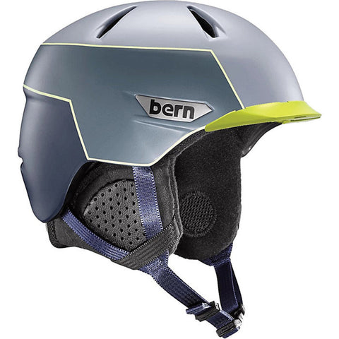 Bern Weston Peak Matte Slate Blue/Hyper Green MIPS E2 Helmet - Small