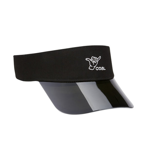 The Sandy Translucent Shaka Visor - Black