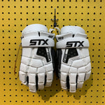 Medium STX Shield 500 Goalie Gloves White