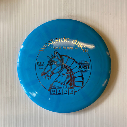 171 WESTSIDE DISCS WARHORSE TOURNAMENT BURST DISTANCE DRIVER BLUE