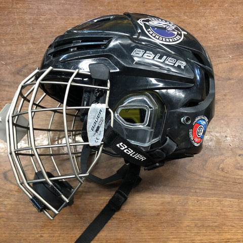 Small Bauer ReAkt Combo Helmet - Black w/Cage