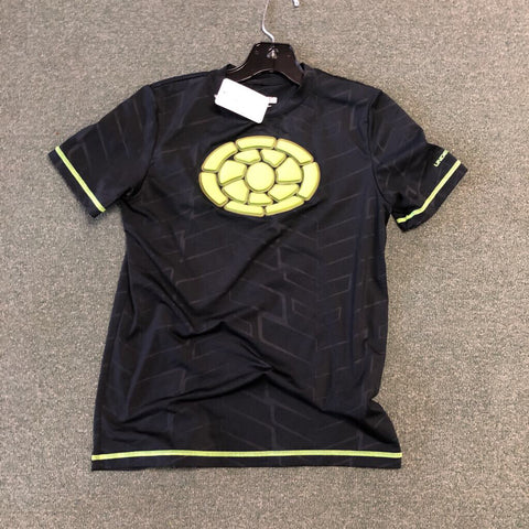 Under Armour Heat Gear Heart Guard Shirt - Black/Green Youth XL