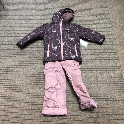 Kid's Marble 2-Piece Snow Outfit Black Marble - 4/5