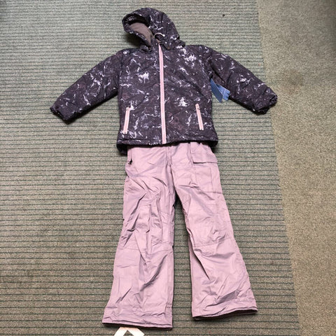 Kid's Marble 2-Piece Snow Outfit Black Marble - 6
