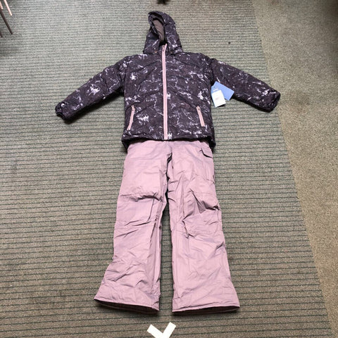 Kid's Marble 2-Piece Snow Outfit Black Marble - 7