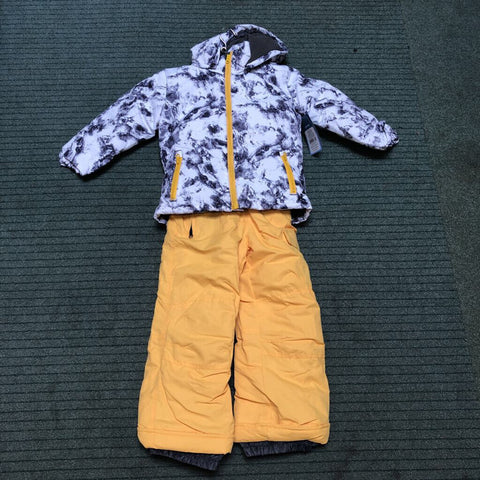 Kid's Marble 2-Piece Snow Outfit White Marble - 4/5