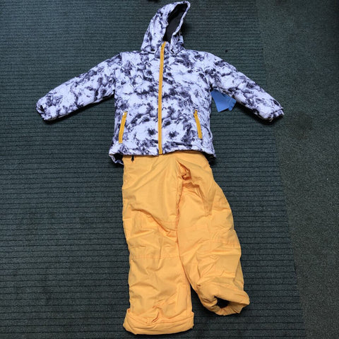 Kid's Marble 2-Piece Snow Outfit White Marble - 7