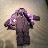 Toddler's Watercolor Purple 2-Piece Snow Outfit - 3T