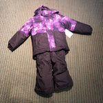 Toddler's Watercolor Purple 2-Piece Snow Outfit - 2T