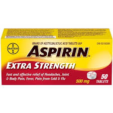 Aspirin Extra Strength 500mg - Fall River Guardian