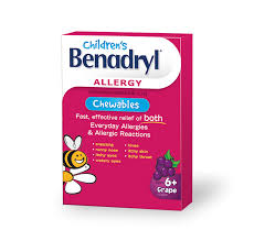 Children's Benadryl Chewables - Fall River Guardian