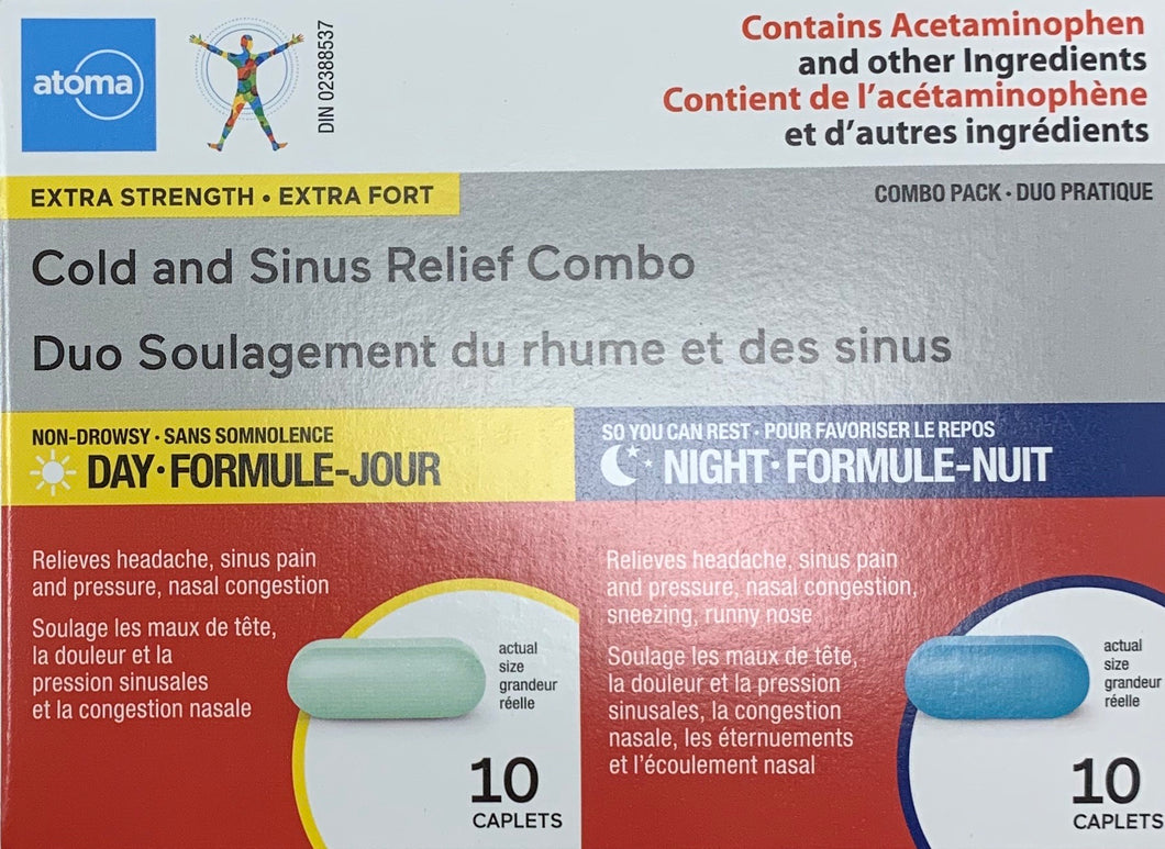 Atoma Cold & Flu Daytime and Nighttime Combo pack - Fall River Guardian