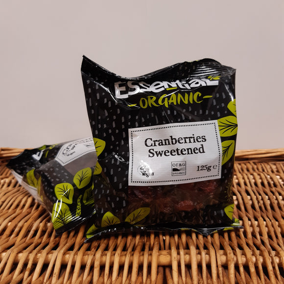 Organic Cranberries Sweetened 125g