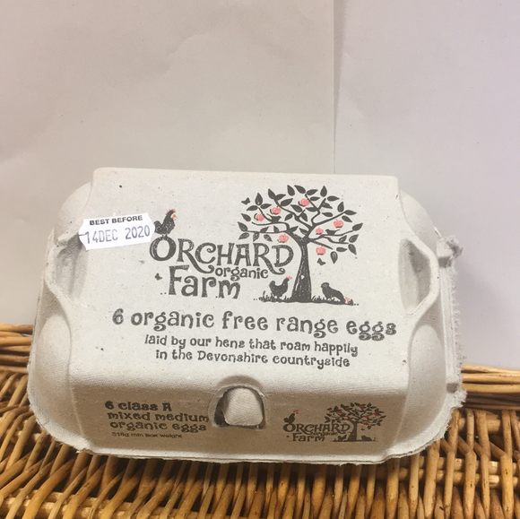 Orchard Organic Eggs mixed sizes 1/2doze