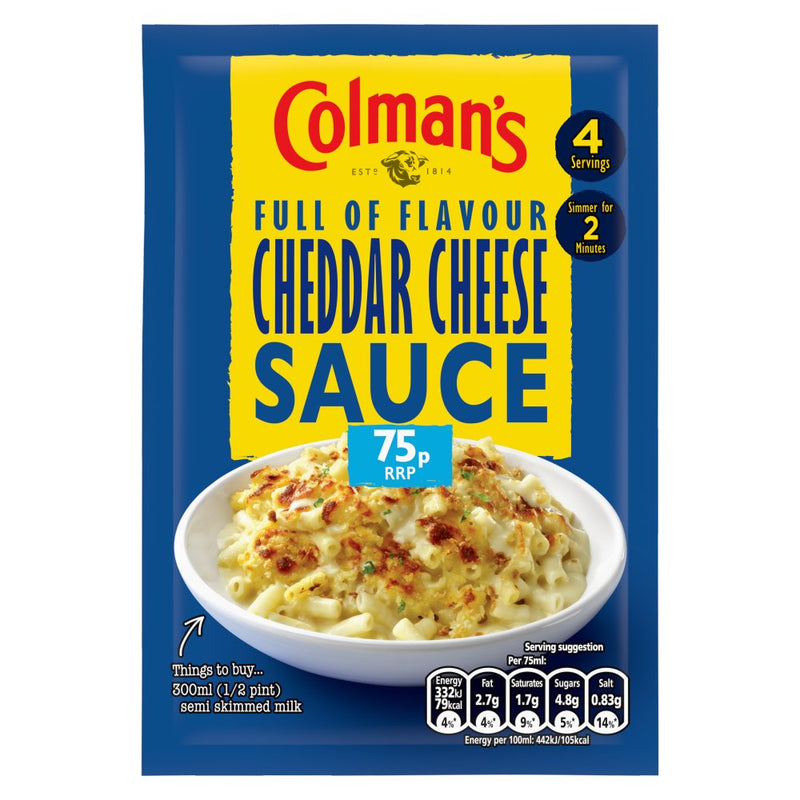 Colmans Cheddar Cheese Sauce Mix 40gm