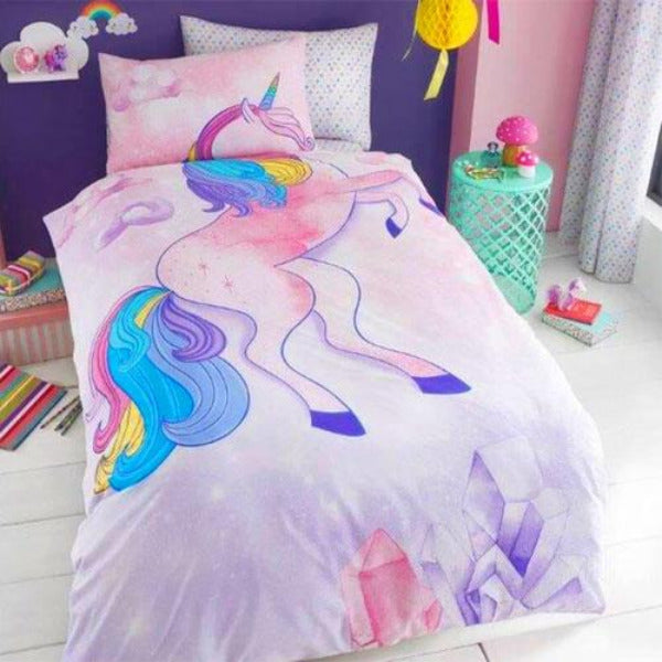 Unicorn Reversible Single Duvet Set