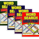 Large Print Word Search Puzzle Book A4