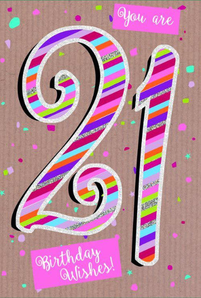 Word Play Age 21 Birthday Card 137 x 195