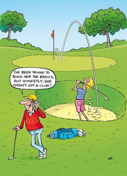 Golf Humour Birthday Card 125 x 178