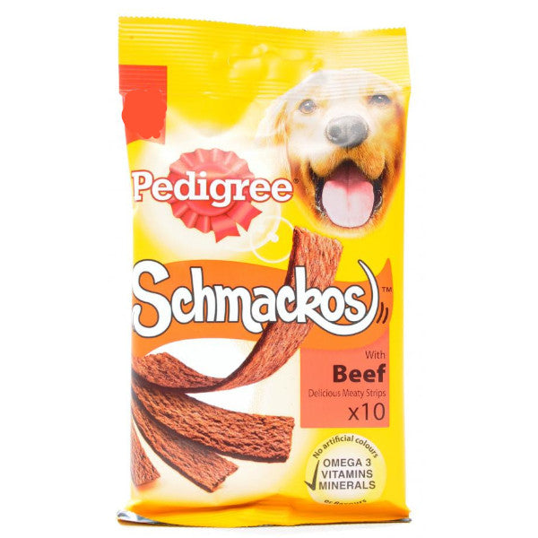 Pedigree Schmackos Dog Treats Beef 86gm