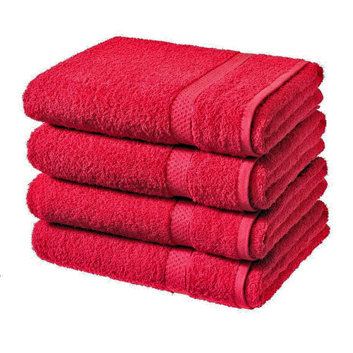 Luxury 100% Pure Cotton Bath Sheets 4 Pack